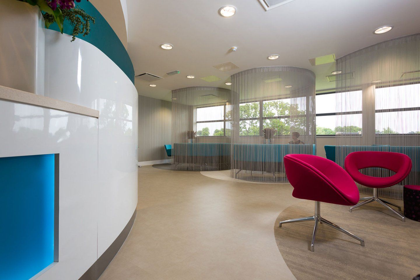 Inside the reception area at our fertility clinic in Manchester